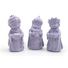 Molde Reyes Magos, para hacer jabones, velas y figuras de resina o escayola. Con este molde de silicona podrás hacer manualidades navideñas para decorar tu hogar. Perfecto para hacer con niños. DIY.