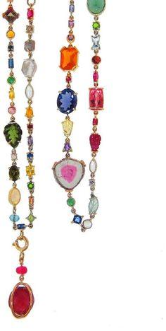 Sharon Khazzam Multi-Stone and Diamond Baby Necklace