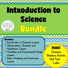 """This bundle is the perfect Introduction to Science!With FOUR complete lessons that cover """"what is science?"""" and each part of the scientific method in detail, your students will be budding scientists in no time!My PowerPoint presentations and practice worksheets include real-life scenarios that students can relate to, adding interest and engagement."""