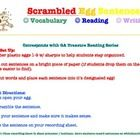 """Scrambled Eggs Sentences"" / Mixed-Up sentences are great for vocabulary, writing, and reading.    Included is a sample of the scrambled sentences fo..."