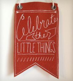 Celebrate The Little Things Mini Banner by Urban Bird & Co. on Scoutmob Shoppe