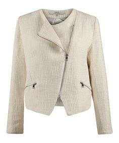 Look at this Dex Beige Asymmetrical Blazer on #zulily today!