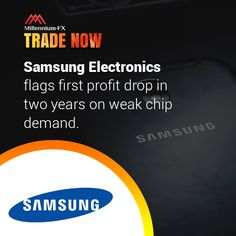 Samsung Electronics flags first profit drop in two years on weak chip demand. Financial News, South Korea, Flags, Tuesday, Investing, Samsung, Drop, Marketing