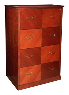 cherry inlay four drawer lateral file cabinet with alluring wood patterns and appealing features the santa anita series is designed to please di