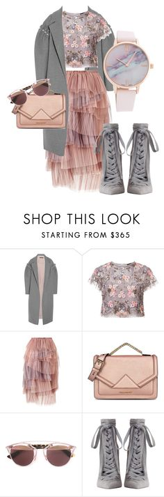 """""""February flowers"""" by dorque ❤ liked on Polyvore featuring Mother of Pearl, Needle & Thread, Burberry, Karl Lagerfeld, Christian Dior and Zimmermann"""
