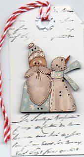 santa in blue & snowman button Christmas Stuff, Christmas Ornaments, Colored Pencils, Snowman, Santa, Craft Ideas, Hand Painted, Embroidery, Tags