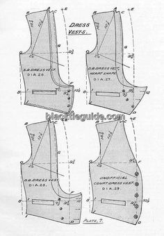 ladies waistcoat pattern - Google Search