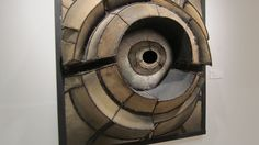 """""""Untitled"""" (1961) by Lee Bontecou that's exhibited at the Phoenix Art Museum"""