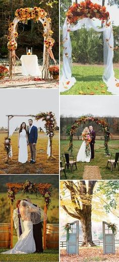 autumn wedding ceremony arch inspiration