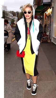Rita Ora demonstrate sportswear deluxe