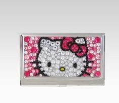 Hello kitty card holder hello kitty addiction pinterest hello hello kitty name card case bling pink reheart Images