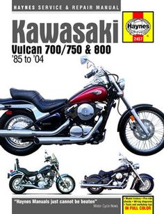The 69 best haynes manuals dummies images on pinterest manual kawasaki vulcan 700 750 and 800 haynes repair manual 1985 2004 fandeluxe Images