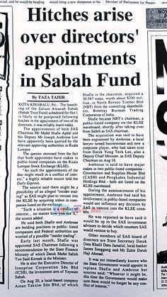 HISTORY Shafie Apdal and Yayasan Sabah
