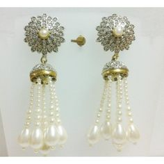 EXCLUSIVE JHUMKI DESIGN VICTORIAN EARRING WITH PEARL DROPS