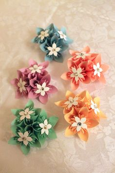 Origami Pastel Boutonnieres by EverBloomsFlowers on Etsy, $14.00