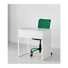 MICKE Desk IKEA It's easy to keep cords and cables out of sight but close at hand with the cable outlet at the back. $49 but not in stock in Burbank.