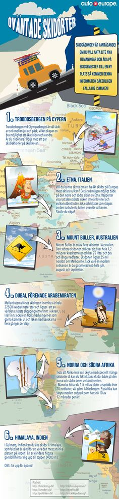 Travel Skiholiday Ski Infographic More Infographics From Auto Europe Here