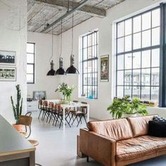 Lovely soft colors and details in your interiors. Latest Home Interior Trends. - Home Decoration - Interior Design Ideas Industrial Interiors, Industrial House, Industrial Style, Industrial Design, Industrial Furniture, Industrial Bedroom, Loft Furniture, White Industrial, Kitchen Industrial
