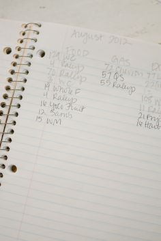 Easy Budget Notebook