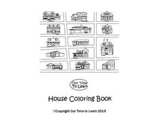 Have fun coloring while learning to recognize different house styles. Different House Styles, Science Worksheets, Kindergarten Activities, Teacher Newsletter, Teacher Pay Teachers, House Colors, Coloring Books, Homeschool, Houses