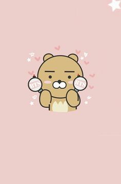 Ryan the rapminie friend Video Rezept K Wallpaper, Friends Wallpaper, Kawaii Wallpaper, Ryan Bear, Kakao Ryan, Cute Lockscreens, Kakao Friends, Bts And Exo, Line Friends