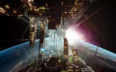 Artwork by #ErikVanOoijen.  #sciencefiction #scifi #spaceship #sciencefictionart
