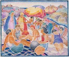 Blue Beach by Mary Mullineux. Search the Smithsonian American Art museum collection, one of the world's largest and most inclusive collections of art made in the United States. Blue Beach, Beach Art, Blue Lantern, Museum Collection, Woodblock Print, American Art, American Modern, Art Museum, Printmaking