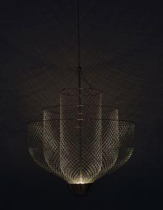 atelier rick tegelaar layers meshmatics chandelier for dutch design week