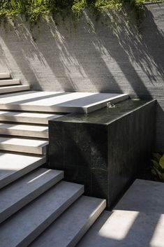 Gallery of louvers house / mia design studio - 16 l - stairs Outdoor Water Features, Pond Water Features, Patio Design, Exterior Design, Garden Design, Landscape Stairs, Landscape Design, Modern Landscaping, Outdoor Landscaping