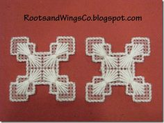 Handmade snowflake ornaments