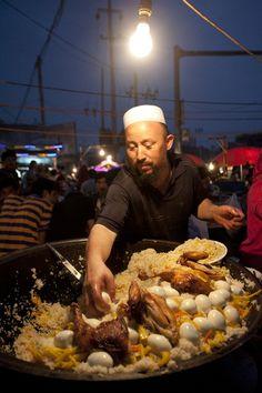 Local street food in Xinjiang