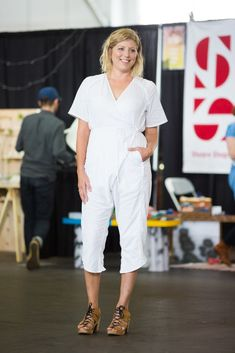 25 Perfect Outfits From The Most Stylish Craft Fair Ever #refinery29  http://www.refinery29.com/2015/06/88847/west-coast-craft-fair-street-style-pictures#slide-1  Annabel Inganni of Wolfum nails the art of minimalism in a white Rachel Comey jumpsuit and No.6 clogs.