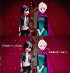 THANK YOU. I hate when people complain about the girls in Big Hero 6 looking like the princesses