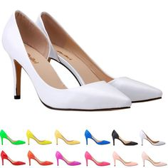 Ladies Womens Side Patent Leather High Heels Sandals Court Strap Shoes Size 4-11 #ZBeiBei #CourtShoes #Business