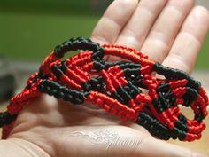 Wire satin macrame bracelet by Splatane on Etsy, €7.00