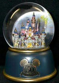 Disneyland 50th Anniversary - Sleeping Beauty's Castle Snowglobe