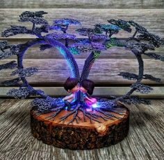 A bonsai tree made of wire will perfectly decorate your home interior. Wire Art Sculpture, Tree Sculpture, Bonsai Wire, Bonsai Plants, Copper Wire Art, Crystal Tree, Wire Trees, Metal Tree, Handmade Wire