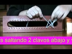Diferentes puntos en telar maya Croque - Andaluz - Turco - Fantasia - Cola de caballo