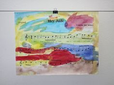 Homemade Gift: Sheet Music Art - http://giving.innerchildfun.com/2013/08/homemade-gift-sheet-music-art.html #giving #gifts