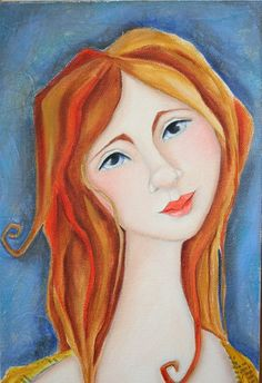 Woman  Portrait original Art  painting Deb Harvey Art by DebHarvey