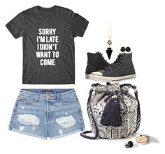 """I Didn't Want To Come"" by lisa-holt ❤ liked on Polyvore featuring Converse, J Brand and Star Mela"