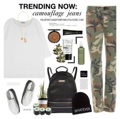 """""""Trending  Now: Camouflage Jeans / Rag & Bone Camouflage Printed Jeans"""" by palmtreesandpompoms ❤ liked on Polyvore featuring rag & bone, Abercrombie & Fitch, River Island, Wet Seal, Versace, Aveda, Iman and NARS Cosmetics"""