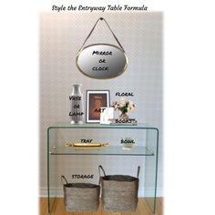 decorating formula for your hallway table vignette