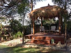 Thank you universe. Bali Huts, Outdoor Furniture, Outdoor Decor, Pergola, Universe, Outdoor Structures, Garden, Home Decor, Garten