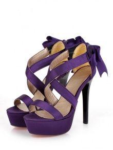 Sandálias de salto alto bonito bowk de volta ...