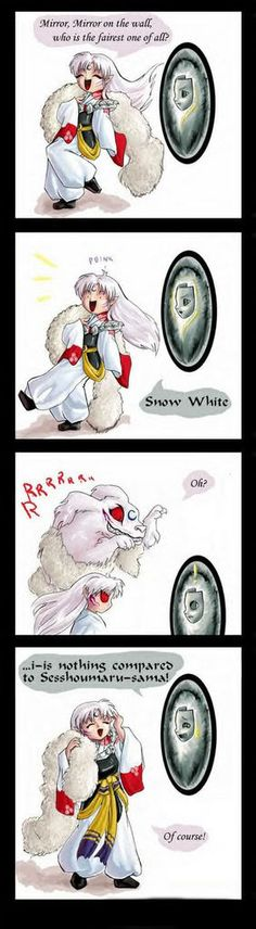 Picturing Sesshomaru doing this is HILARIOUS.