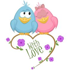 Cute image, couple on pink heart backgroun, vector illustration Short Cute Love Quotes, Love Quotes For Her, Cute Quotes, Cartoon Birds, Cartoon Images, Cartoon Drawings, Cartoon Clip, Birds In The Sky, Love Birds