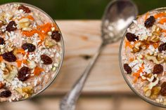 Carrot Cake Raw Buckwheat Porridge & Sugar-Free 'Carob Puff' Cereal — Oh She Glows Healthy Gluten Free Recipes, Gluten Free Breakfasts, Foods With Gluten, Raw Food Recipes, Sweet Recipes, Cooking Recipes, Yummy Recipes, Healthy Vegan Breakfast, Healthy Food