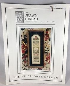 Cross-Stitch-Pattern-Chart-THE-WILDFLOWER-GARDEN-Sampler-by-The-Drawn-Thread