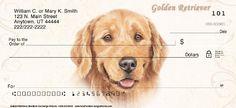 Golden Retriever Dog Personal Checks